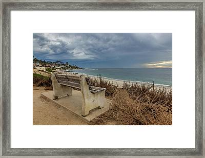 The Bench V Framed Print