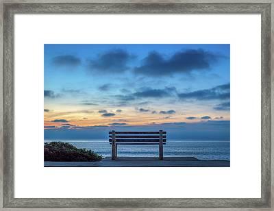 The Bench Vi Framed Print
