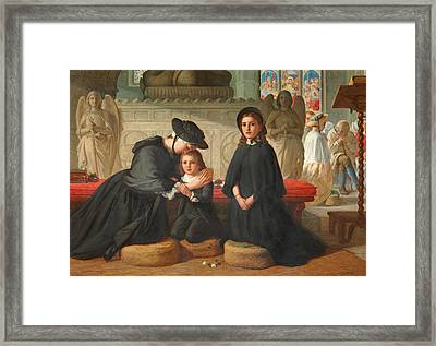 The Benediction Framed Print by Alfred Rankley