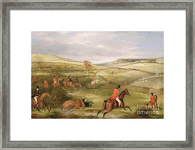 The Berkeley Hunt, 1842 The Chase  Framed Print by Francis Calcraft Turner