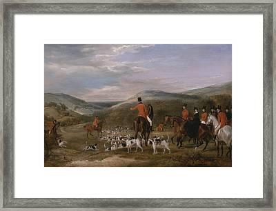 The Berkeley Hunt, 1842 - The Meet Framed Print