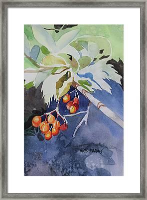 The Berries Framed Print by Kris Parins