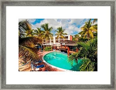 The Best- Bolongo Bay Beach Resort Framed Print by Peter Parker