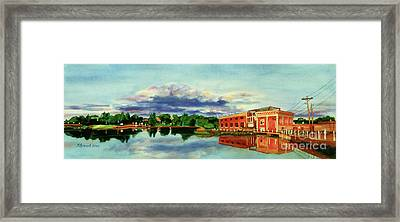 The Best Dam Town In Minnesota Framed Print by Kathy Braud
