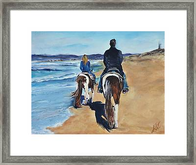 Framed Print featuring the painting The Best Day by Lindsay Frost