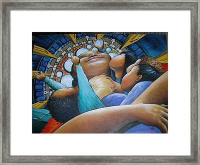 Framed Print featuring the painting The Best Life Ever by Eleatta Diver