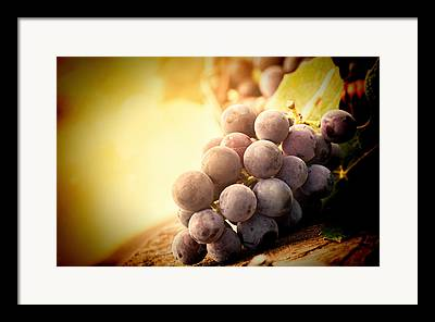 Clusters Of Grapes Mixed Media Framed Prints