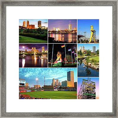 The Best Of Tulsa Oklahoma - City Collage Framed Print by Gregory Ballos