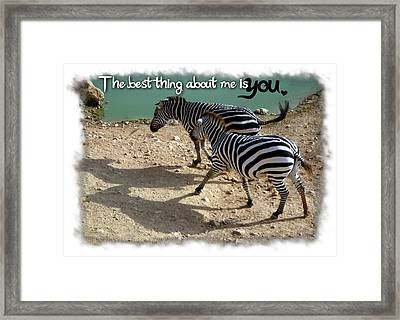 The Best Thing About Me Alternative Framed Print by Menucha Citron