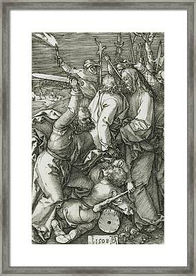 The Betrayal Of Christ Framed Print by Albrecht Durer