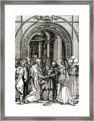 The Betrothal Of The Virgin Framed Print