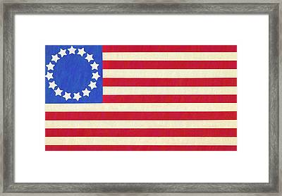 The Betsy Ross Flag Framed Print by Dan Sproul