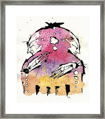 The Bi-polar Framed Print