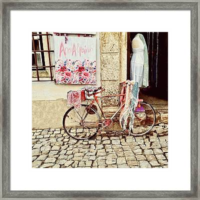 The Bicycle As Display  Framed Print