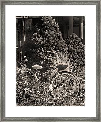 The Bicycle Garden II Framed Print by Jim Furrer
