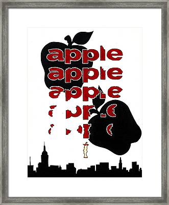 The Big Apple Rotten Apple Framed Print by Turtle Caps