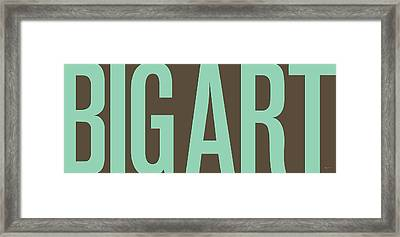 The Big Art - Pure Emerald On Cotton Framed Print