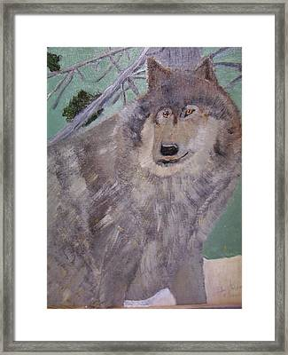 The Big Bad Wolf Framed Print