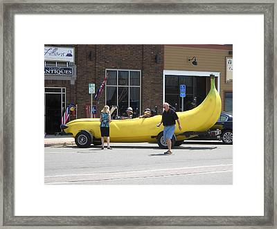 The Big Banana Car Stops By Framed Print