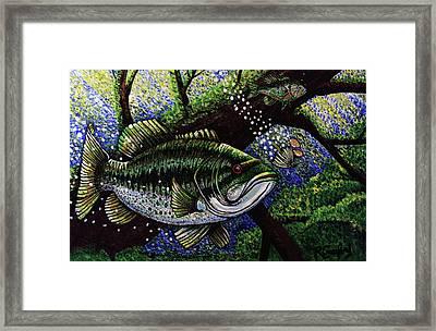 The Big Bass Framed Print by Bob Crawford