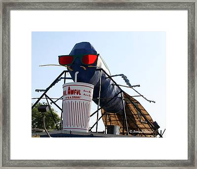 The Big Blue Bug Framed Print by Anne Babineau