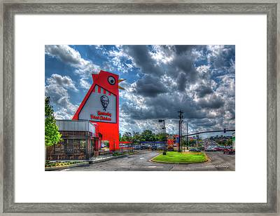 Framed Print featuring the photograph The New Big Chicken Hwy 41 Cobb Parkway Art by Reid Callaway