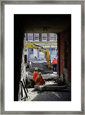 The Big Dig Framed Print