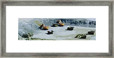 The Big Dig Framed Print by Phill Petrovic