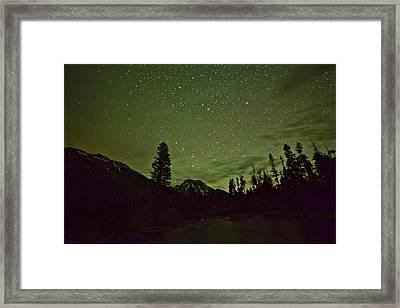 The Big Dipper Over Mount Moran Framed Print
