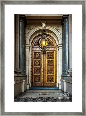 Framed Print featuring the photograph The Big Doors by Perry Webster
