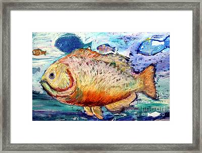 Framed Print featuring the painting The Big Fish by Diane Ursin