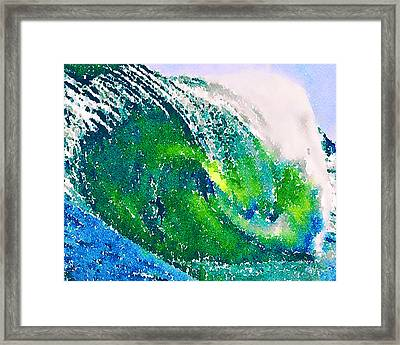 Framed Print featuring the painting The Big Green by Angela Treat Lyon