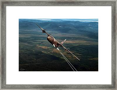 The Big Gun Framed Print by Peter Chilelli