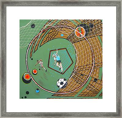The Big Kick Framed Print by V Boge