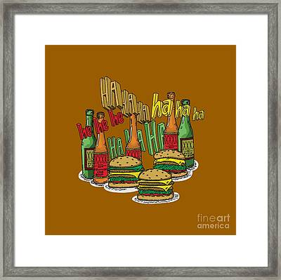 The Big Lebowski  Some Burgers Some Beers And A Few Laughs  In And Out Burger Jeff Lebowski Framed Print by Paul Telling