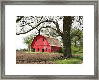 The Big Red Barn Framed Print