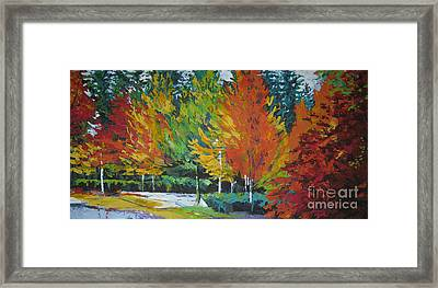 The Big Red Tree Framed Print by Lee Ann Shepard