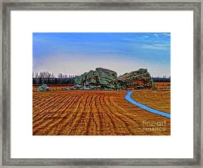 The Big Rock - Hdr Framed Print by Al Bourassa