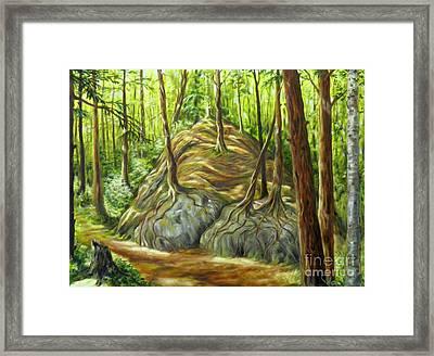 the Big Rock Framed Print