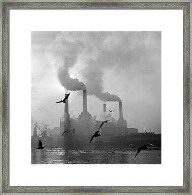 The Big Smoke Framed Print by Central Press