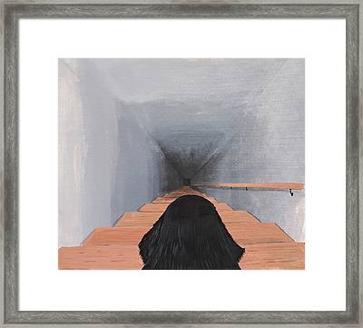 The Big Stairs Go Down Forever Framed Print