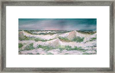 Framed Print featuring the painting The Big Surf by Carol Grimes