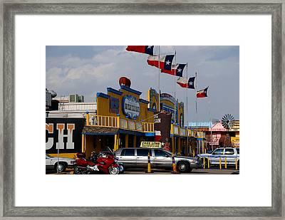 The Big Texan In Amarillo Framed Print