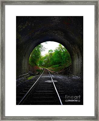 The Big Tunnel Framed Print
