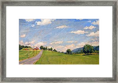 The Big View Berkshires Framed Print