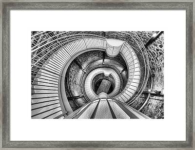 Framed Print featuring the photograph The Big Well Black And White by JC Findley