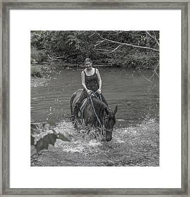 The Biggest Splash In Town Framed Print by Betsy Knapp