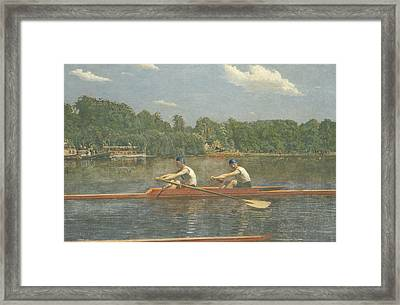 The Biglin Brothers Racing Framed Print by Thomas Eakins