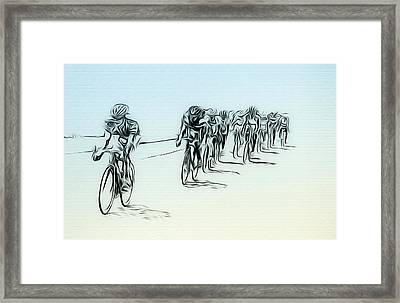 The Bike Race Framed Print by Bill Cannon