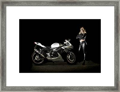 The Biker Framed Print